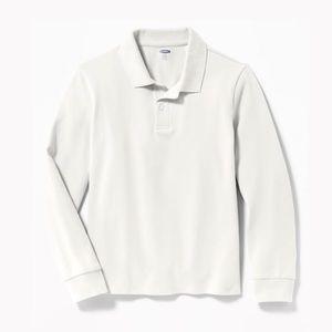 OLD NAVY Uniform Built-In Flex Long Sleeve Polo